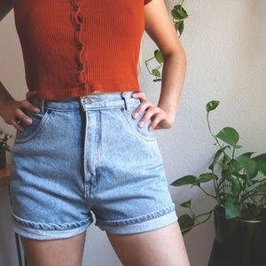 vintage 90s high waist shorts